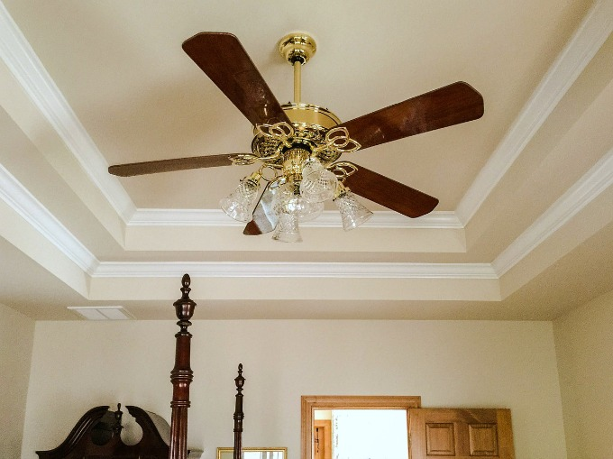 Crown mouliding really pulls a room together, as shown with this tray ceiling