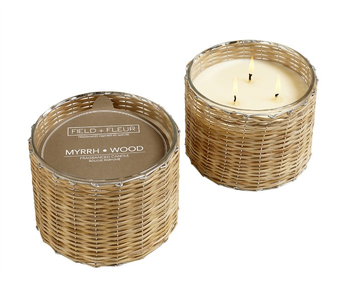 Field + Fleur 3 wick candles from Hillhouse Naturals