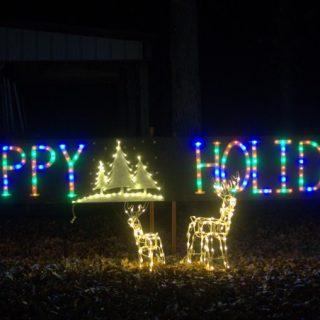 Happy Holidays Christmas lights bring Christmas spirit
