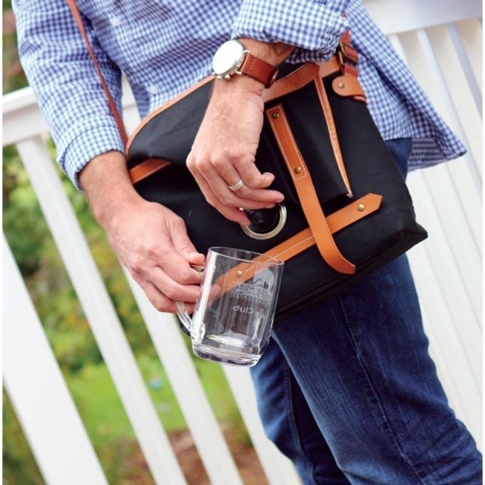 Kevin Wine Carrier messenger bag
