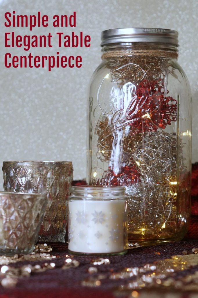 Discover how easy it is to make a simple and elegant table centerpiece using Ball canning jars. It's perfect for Christmas, but also wonderful for weddings or other parties
