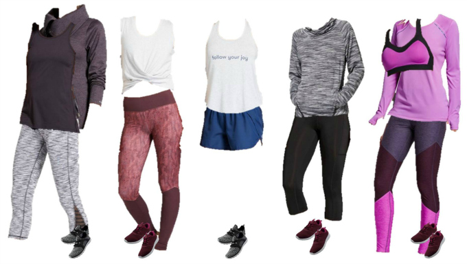 Target Mix and Match wardrobe for fitness wear