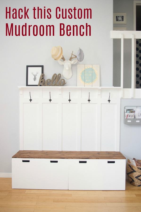 Take an Ikea bench and turn it into custom furniture
