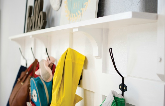 Shelf for ikea hack mudroom bench