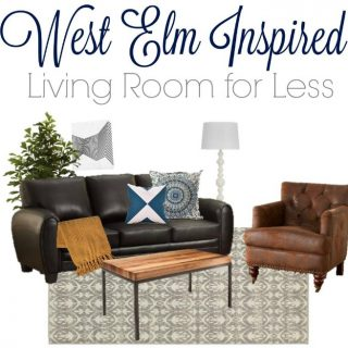 Modern and Chic Living Room Look   West Elm Copycat Look for Less