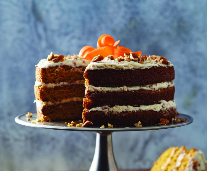 Classic Carrot Cake with Cream Cheese frosting. Get the recipe on the site