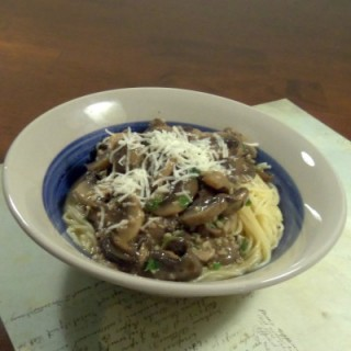 Vegan and vegetarian friendly mushroom scampi pasta recie