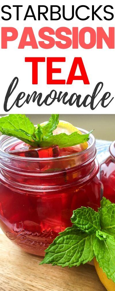Easy to make Starbucks Copycat Passion tea Lemonade recipe
