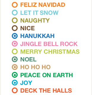 Holiday Checklist Cards