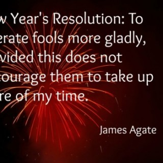 New Years Eve Tolerate Fools quote