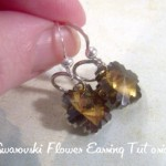 Flower Swarovski Crystal Earrings Tutorial