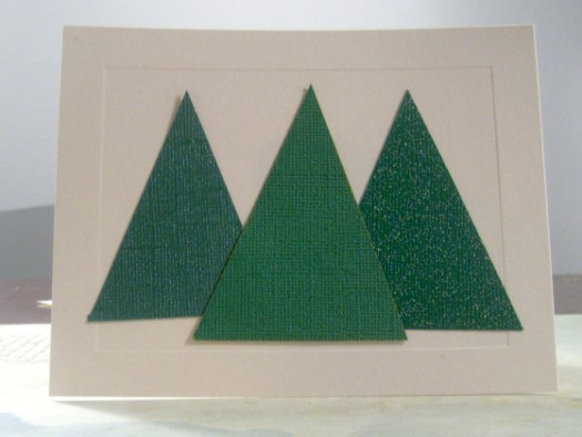 Easy and elegant christmas cards tutorial how was your day for Elegant christmas card ideas