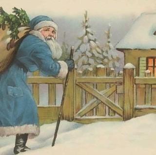 Vintage Christmas Santa Post Card