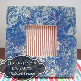 How To Make a Lacy Glitter Picture Frame