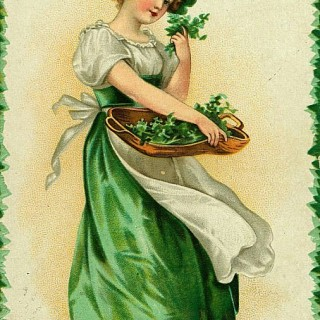 St Patrick's Day Vintage Postcards | Wordless Wednesday