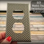 DIY Washi Tape Switch Plate Cover Tutorial