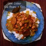 Louisiana Red beans and Rice made in a crockpot or slow cooker