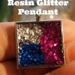How to Make Resin Glitter Pendants