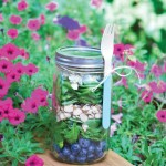 Spinach Blueberry and Blue Cheese Mason Jar Salad Recipe