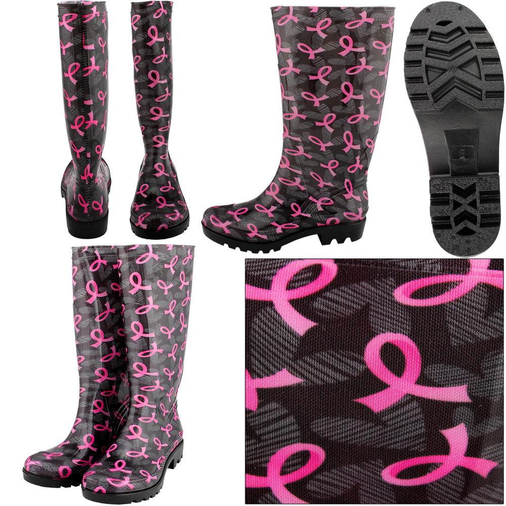 pink-ribbon-rainboots