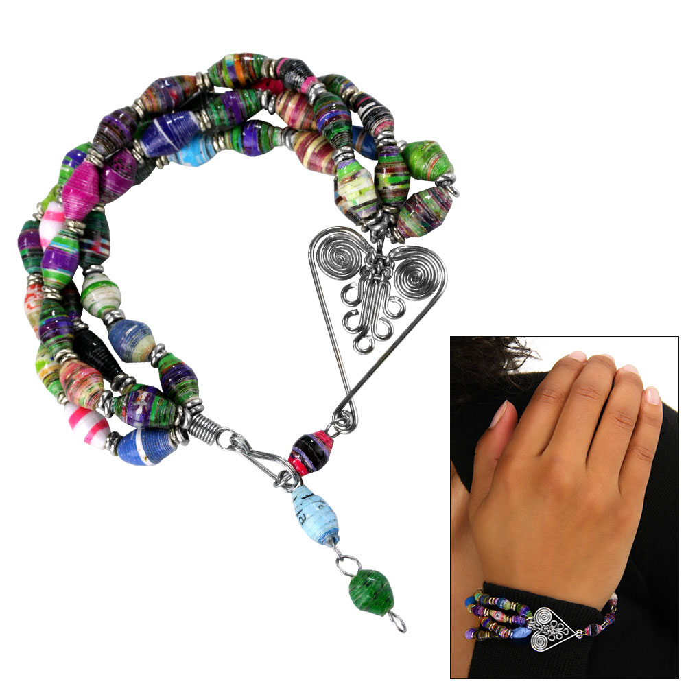 recycled-bead-bracelet