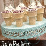 Spicy Red Velvet Cupcake Cones Recipe
