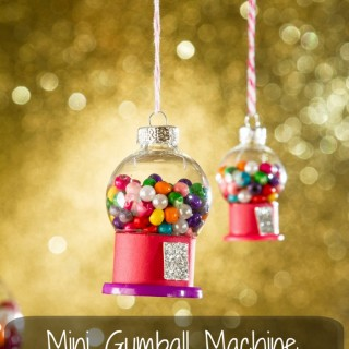 How to make mini gumball machine Christmas ornaments.