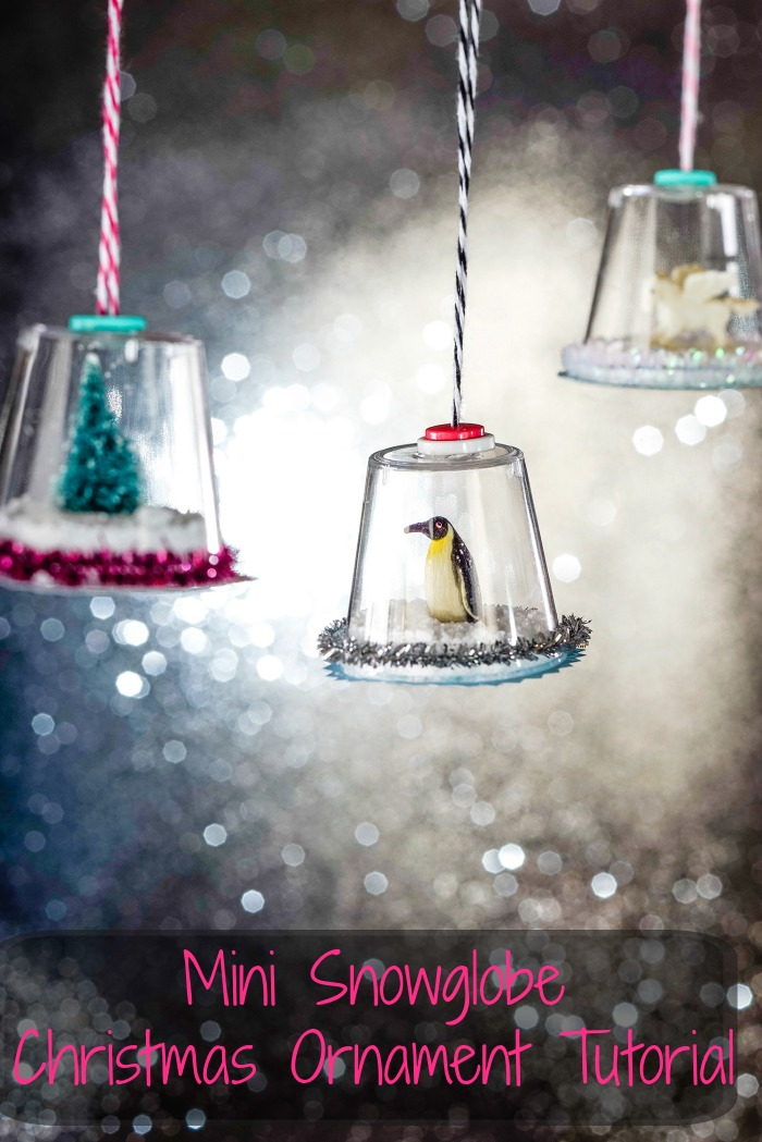 Snow Globe Christmas Ornaments Tutorial