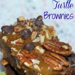 Ooey Gooey Caramel Turtle Brownies