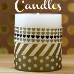 DIY Washi Tape Candles