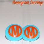How to Make DIY Monogram Earrings