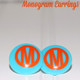 How to Make DIY Monogram Earrings