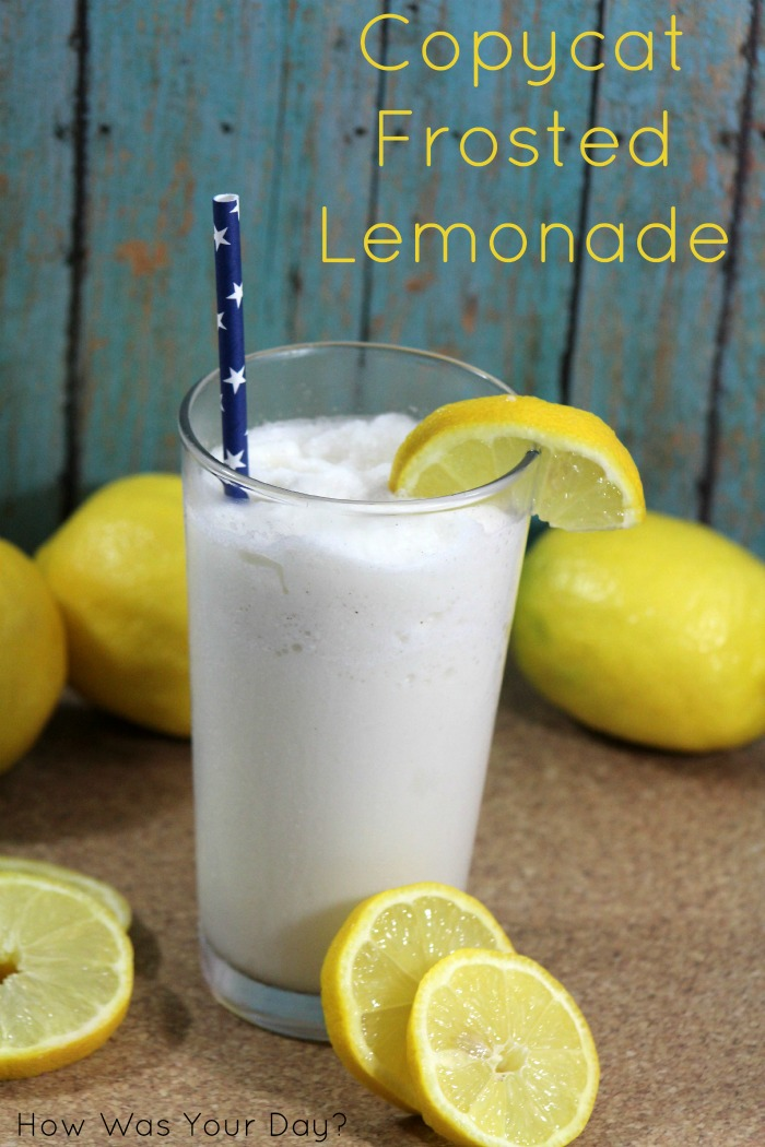 Copycat Chik Fil A Frosted Lemonade Recipe | Make this chickfila knockoff at home. It's a great sweet citrus lemonade frozen shake that's part slush, part milkshake, and all refreshing. A perfect summer treat