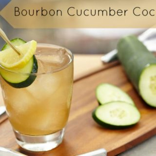 A dlicious ourbon cucumber cocktail drink recipe