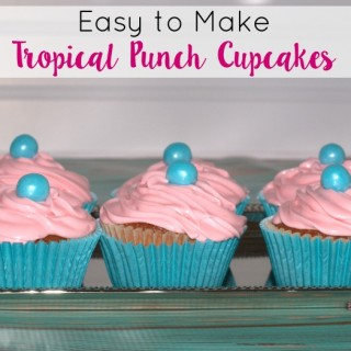Easy to Make Tropical Punch Cupcakes