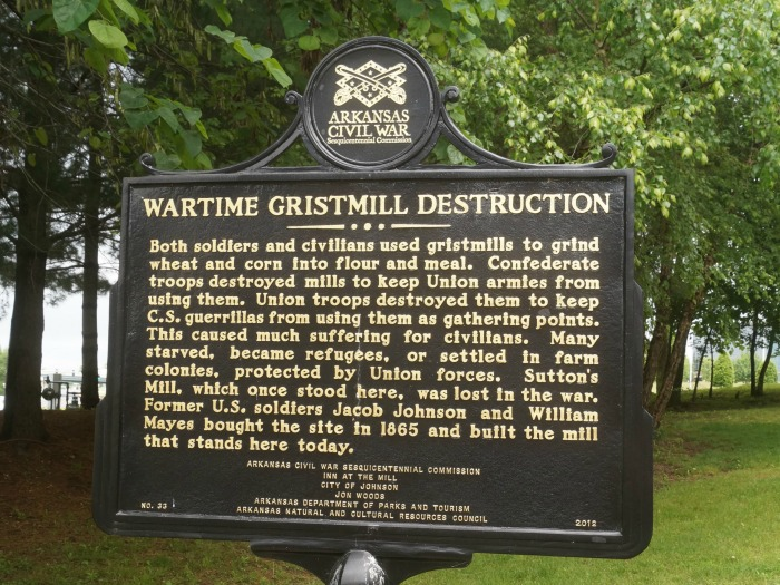 johnson mill historic placard