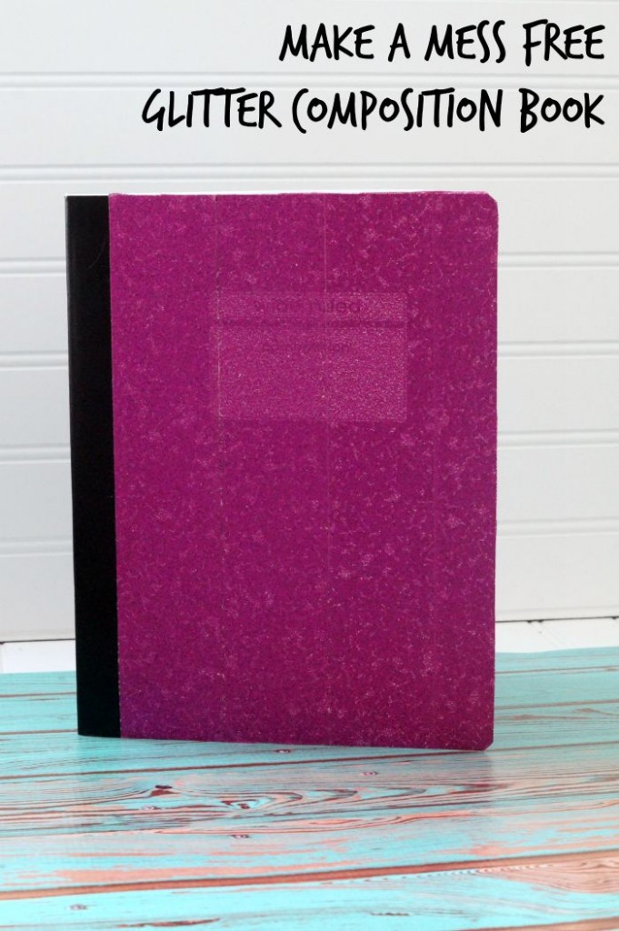 How to make  a mess free glitter composition book