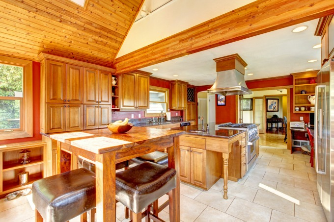 rustic decor kitchen area