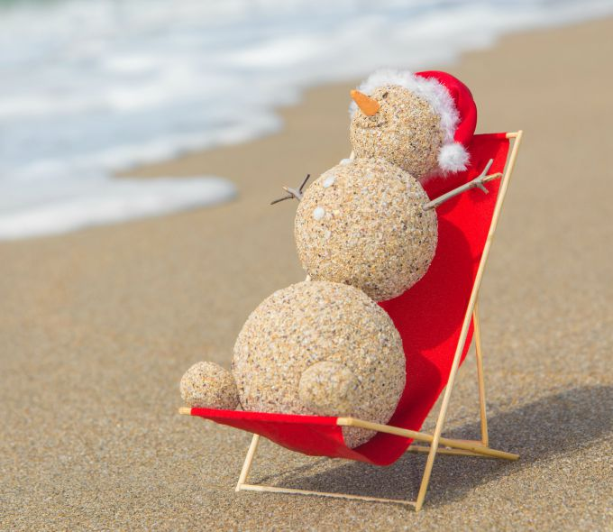 snowman on the beach