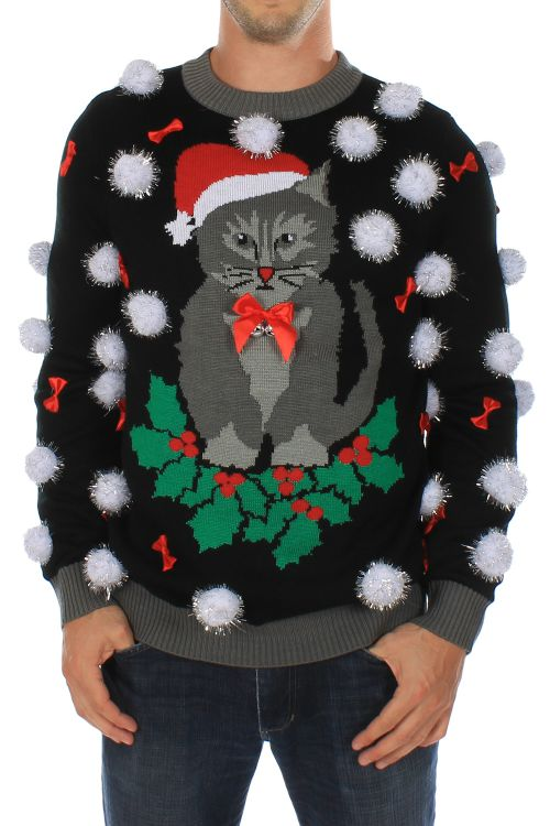 ugly_cat_christmas_sweater_with_bells