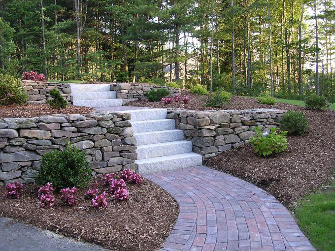 walkway with paving stones