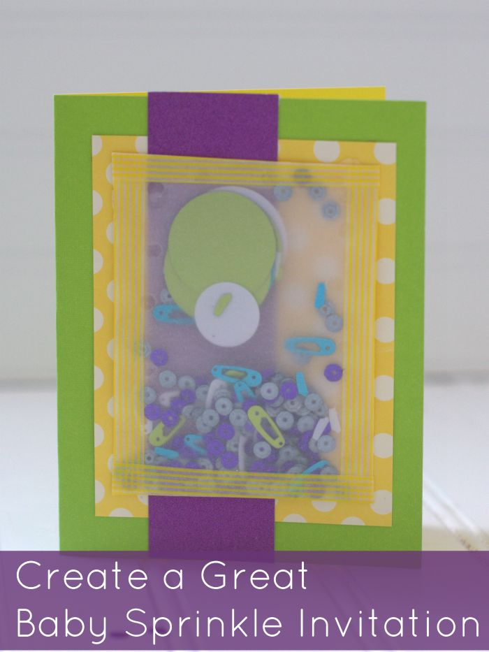 Create a great baby sprinkle invitation