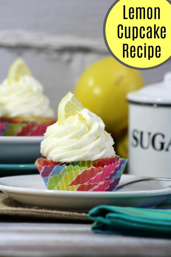 Tasty Lemon Cupcake recipe from scratch with a homemade Lemon buttercream frosting. #recipes #cupcakes #lemon #desserts Icing   cake   dessert   baking
