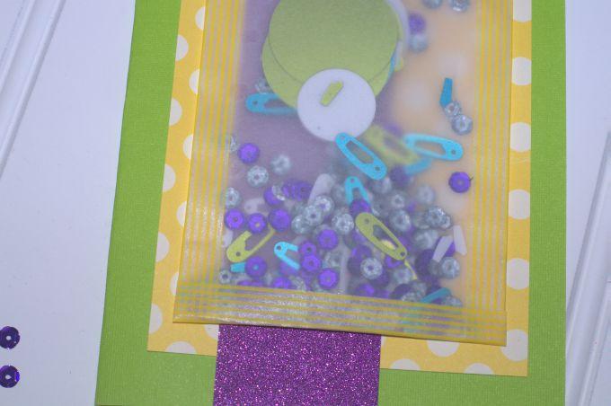 baby sprinkle invitation up close