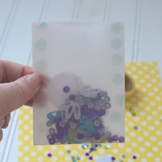 baby sprinkle invitation vellum envelope filled