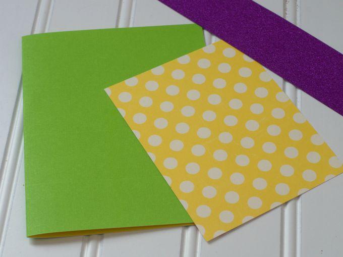 sprinkle card paper cut