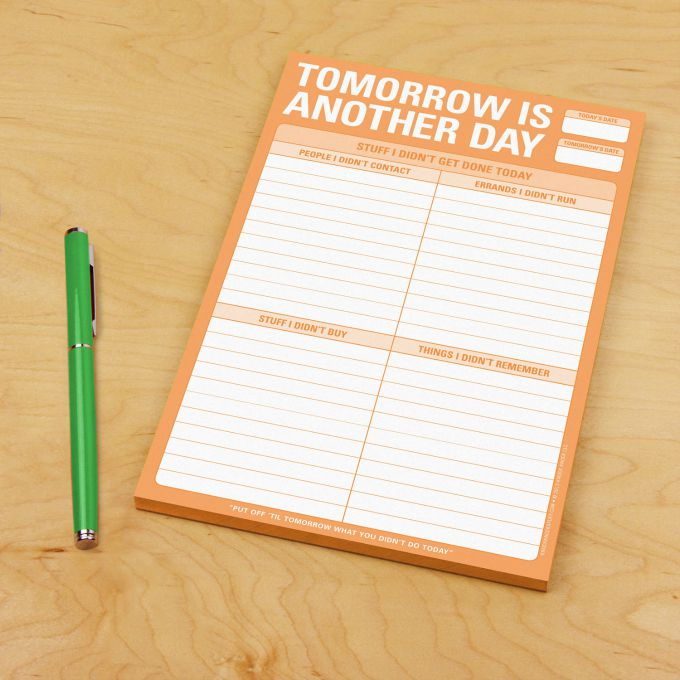 tomorrow is another day notepad
