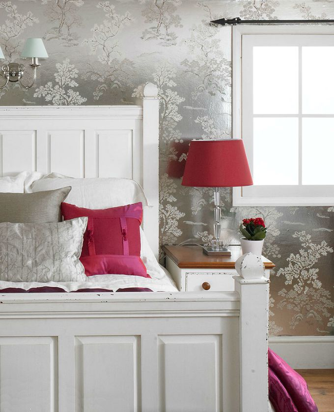 white distressed bedroom