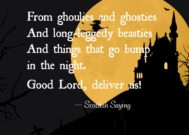 bump in the night halloween quote