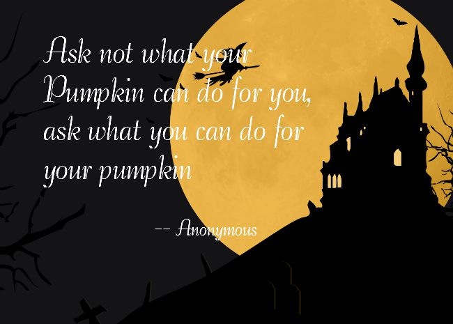 pumpkin can do halloween quote